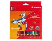 Buntstift Trio dick, inkl. Spitzer, 18 Farben