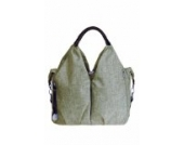 LÄSSIG Baby Wickel-/Stylische Windeltasche nachhaltig, inkl. Wickelzubehör, Green Label Neckline Bag