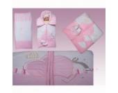 3-tlg. Luxus Decken- Set aus Nicki, Farbe:Rosa