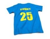 Nappy Head Individuelles Baby/Kinder-T-Shirt - Knallblau mit kurzen Ärmeln (Fußballhemd),0-6 Monate