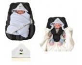 Babyschalendecke mit Applikation von HOBEA-Germany - verschiedene Farben, Farben Winterdecken:hellblau weiß