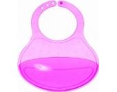 Bieco 79000020 - Lätzchen mit Fangschale und 3 fach verstellbarer Halsweite pink