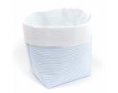 Sugarapple Utensilo Stoff Aufbewahrungsbox aus Baumwolle 19 x 13,5 x 13,5 cm, Stoffbox fürs Bad, als Wickeltisch Organizer oder Windelspender Korb, Streifen hellblau