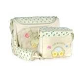 4tlg. Wickeltasche Babytasche Pflegetasche Reisetasche Baby Creme inkl. Wickelunterlage und Flaschenhalter
