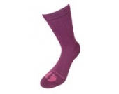 Weri Spezials Schoene Damensocken mit ABS Anti-Rutschbeschichtung in Burgund, Gr. 39-42, Gibt sicheren Halt, besonders bei modernen Fussboeden und Treppen.Frotee Sohle.