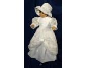 elegantes Taufkleid Gr.44-128 Hut oder Stirnband oder Kappe