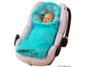 ByBoom® - Einschlagdecke für die Übergangszeit und Sommer mit Muster, für Babyschale, Autokindersitz, z.B. für Maxi-Cosi, Römer, für Kinderwagen, Buggy, Babytrage, z.B. Manduca oder Babybett, Farbe:Aqua