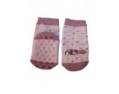 Weri Spezials Noppen-ABS-Socken-Frotee-Sohle, leichte ABS-Beschicltung in Flieder, Gr.15-16 (3-6 Monate)
