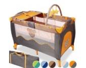 Infantastic klappbar Kinderreisebett mit Wickelauflage und Spielbogen, 126 x 66 cm, inkl. Matratze und Tragetasche | Farbwahl | Babybett | Klappbett | Kinderbett - Honey Bear