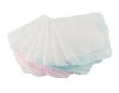 BONAMART ® 10 Stk Waschlappen Babywaschlappen Musselin Baumwolle Lätzchen Wischtuch