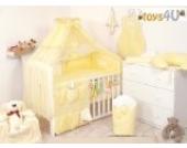 7tlg. Babybettwäsche Set, sort, 135x100cm gelb