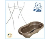Rotho Babydesign Badewannenständer mit TOP Badewanne Taupe Perl