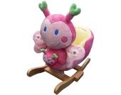 Knorrtoys Schaukeltier Schmetterling Amy mit Handpuppe (Pink-Gelb) [Kinderspielzeug]