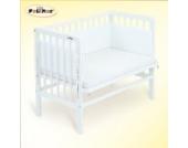 FabiMax 2328 Beistellbett BASIC weiß, inkl. Matratze CLASSIC und Nestchen Amelie weiß